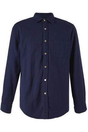 Portuguese Flannel Teca Shirt - Navy