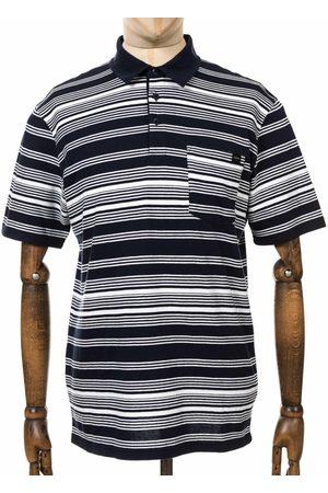 Edwin Jeans Royal Stripe Polo Shirt - Navy Colour: Navy