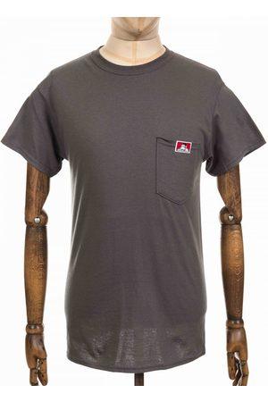 BEN DAVIS Men T-shirts - Classic Patch Logo Pocket Tee - Charcoal Colour: Charcoal, S