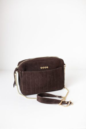 S120 Miller Suede Bag Brown