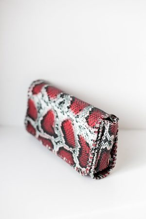 S120 Snake Leather Bag Red