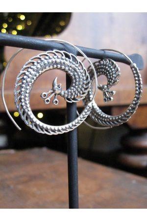 Collard Manson 925 Peacock earrings