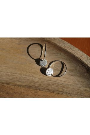 Lily King Cubic Zirconia Disc Hoop Earrings - Small