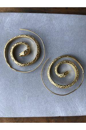 Collard Manson Plated 925 Silver Snake spiral earrings