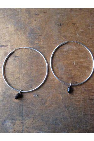 Collard Manson Onyx hoop earrings