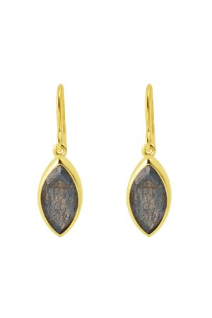 Pomegranate Marquise Earrings in Labradorite
