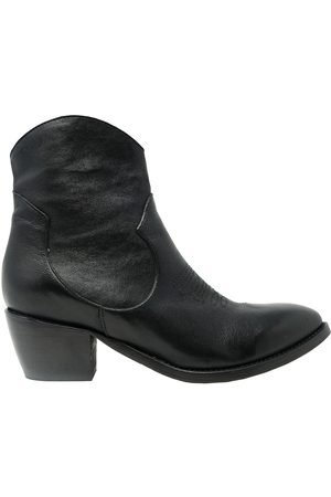 Ame ME BOOTS WOMEN'S ROCKH50BLACK LEATHER ANKLE BOOTS