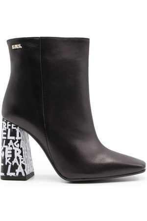 Karl Lagerfeld WOMEN'S KL33040BLACK LEATHER ANKLE BOOTS