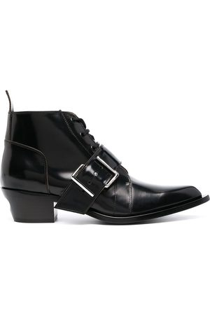 Off-White MEN'S OMID002R21LEA0011000 LEATHER ANKLE BOOTS