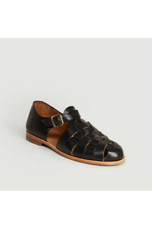 ANTHOLOGY PARIS Baiko leather sandals Noir