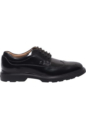 Hogan H393 DERBY BROGUE SHOES IN LEATHER
