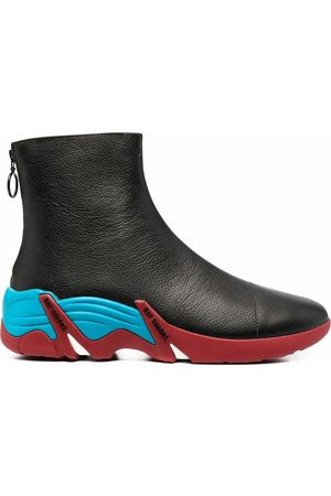 RAF SIMONS WOMEN'S HR740002L2960W LEATHER ANKLE BOOTS