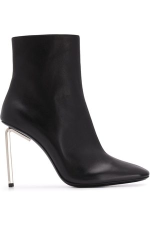 OFF-WHITE WOMEN'S OWID003F20LEA0011000 LEATHER ANKLE BOOTS