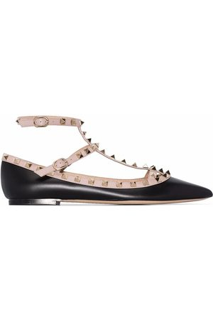 VALENTINO WOMEN'S VW2S0376VODN91 LEATHER FLATS