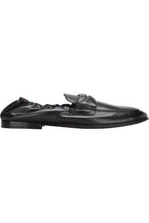 Dolce & Gabbana Logo plaque leather loafers