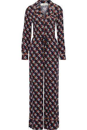 Diane von Furstenberg Woman Cori Printed Cupro-twill Wide-leg Jumpsuit Size 4
