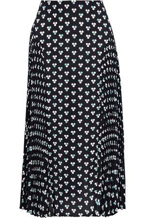Diane von Furstenberg Woman Ananya Pleated Polka-dot Crepe Midi Skirt Size 10