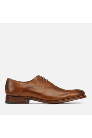 GRENSON Men's Bert Hand Painted Leather Toe Cap Oxford Shoes