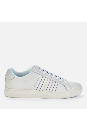 Paul Smith Men's Rex Embroidered Stripe Leather Trainers