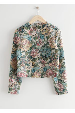 Other Stories Women Suits - Fitted Cropped Floral Jacquard Suit Jacket