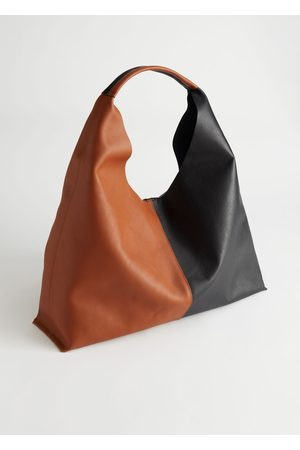 & OTHER STORIES Smooth Leather Tote Bag