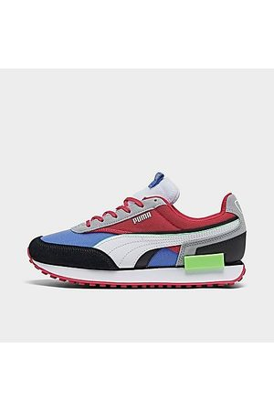 PUMA Women's Future Rider Double Berry Casual Shoes in /Black Size 5.5 Suede