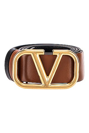VALENTINO GARAVANI Garavani VLogo Belt in Brown