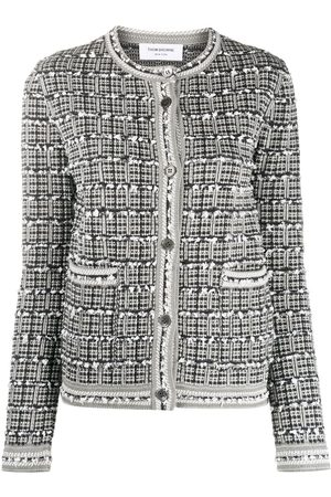 Thom Browne Fitted tweed cardigan - Grey