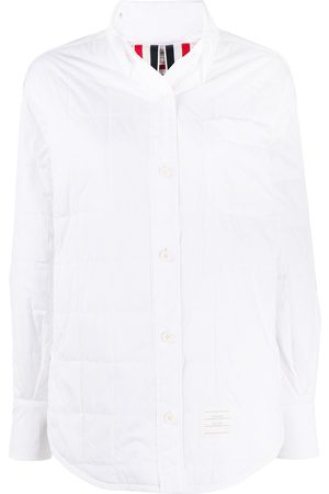 Thom Browne Women Shirts - Oversized quilted shirt jacket