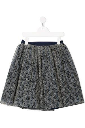 Elie saab Girls Printed Skirts - Logo-print tulle skirt