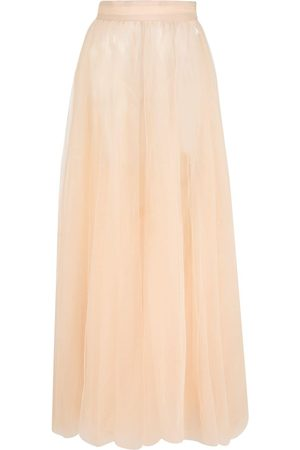Loulou Flared maxi skirt - Neutrals