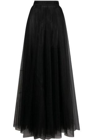 Loulou Sheer flared maxi skirt