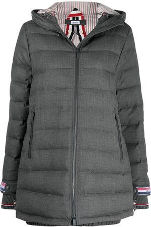 Thom Browne RWB stripe detail padded coat - 035 MED GREY