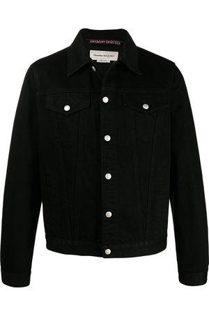 Alexander McQueen Men Denim Jackets - Buttoned denim jacket