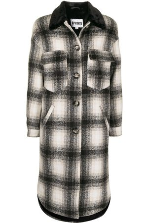 Apparis James checked single-breasted coat - Multicolour