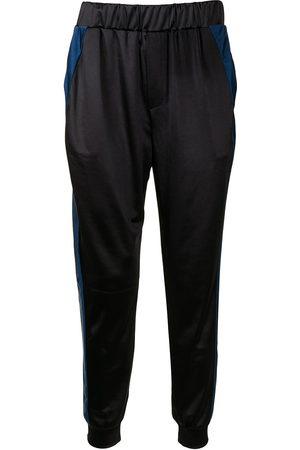 Lisa Von Tang Straight Leg Pants - Bold side-stripe trousers