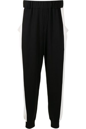 Lisa Von Tang Bold side-stripe trousers