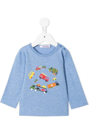 Familiar Long-sleeve cotton t-shirt