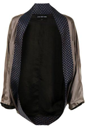 Lisa Von Tang Open-front kimono jacket