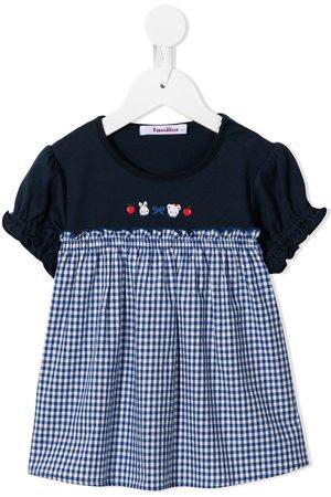 Familiar Panelled logo print dress