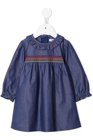 Familiar Baby Casual Dresses - Long-sleeve smocked dress