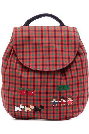 Familiar Girls Rucksacks - Motif-appliqué check backpack