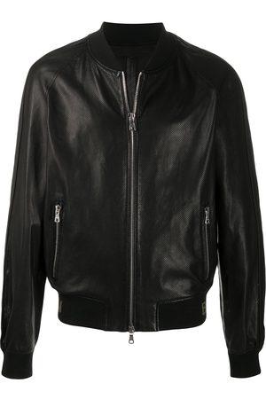 Balmain Men Bomber Jackets - Perforated bomber jacket
