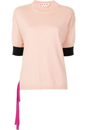 Marni Women Tops - Contrasting cuffs knitted top