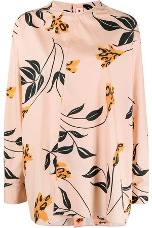 Marni Collarless floral blouse
