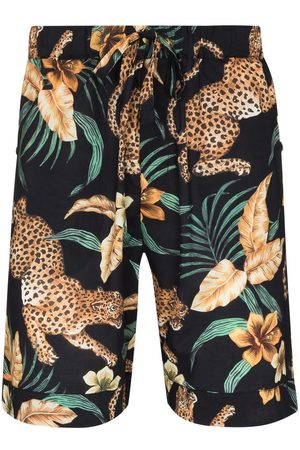 Desmond & Dempsey Jungle print pajama shorts
