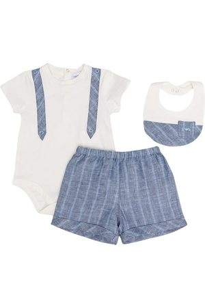 Emporio Armani Kids Bodysuits & All-In-Ones - Stripe-pattern three-piece set