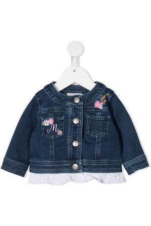 Monnalisa Daisy Duck-embroidered denim jacket