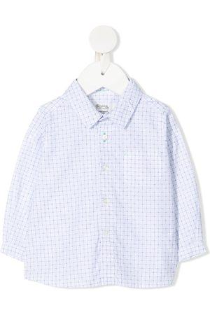 Bonpoint Check-print button-up shirt