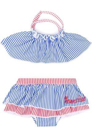 Monnalisa Striped ruffle bikini